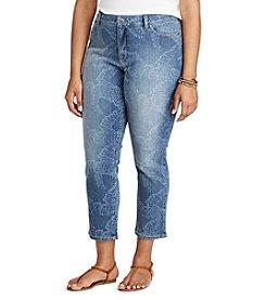 Chaps® Plus Size Tropical-Print Stretch Capri Pants