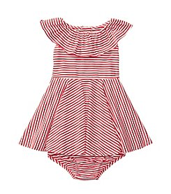 Ralph Lauren® Baby Ruffled Striped Dress