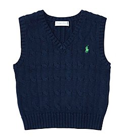 Ralph Lauren® Baby Boys Cable Vest Sweater