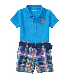 Ralph Lauren® Baby Boys Plaid Shorts Set