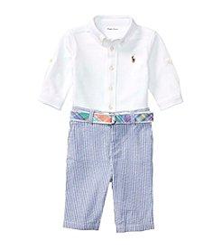 Ralph Lauren® Baby Boys Mesh Seersucker Pants