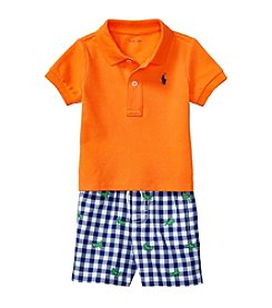 Ralph Lauren® Baby Boys Gingham Short Set