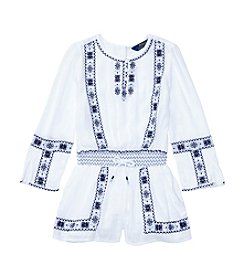 Polo Ralph Lauren® Girls' 5-6X Embroidered Romper