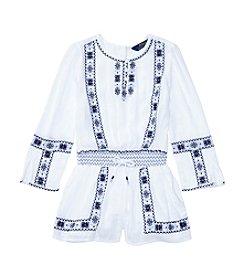 Polo Ralph Lauren® Girls' 2T-6X Embroidered Romper
