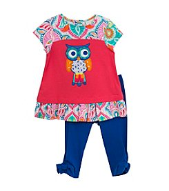 Rare Editions® Baby Girls' Owl Paisley Set