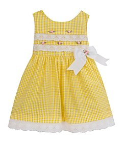 Rare Editions® Baby Girls' Gingham Dress With Eyelet Lace