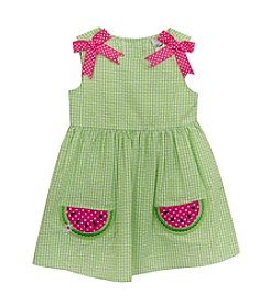 Rare Editions® Baby Girls' Watermelon Seersucker Dress
