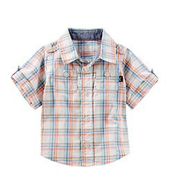 OshKosh B'Gosh® Baby Boys' Plaid 2 Pocket Woven Shirt