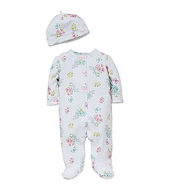 Little Me® Baby Girls' Meadow Floral Footies And Hat Set