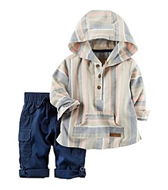 Carter's® Baby Boys' Hooded Twill Set