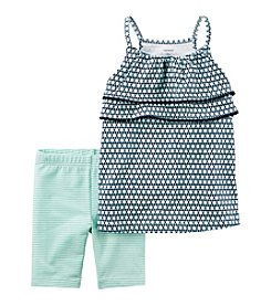 Carter's® Baby Girls' 2-Piece Geo Print Tank And Biker Shorts