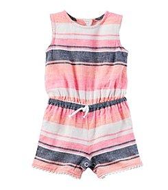 Carter's® Baby Girls' Striped Linen Romper