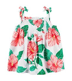 Carter's® Baby Girls' Hibiscus Print Tank Top