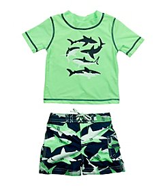Carter's® Baby Boys Shark Rashguard Set