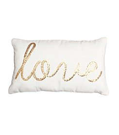 Indy Love Script Sequin Decorative Pillow