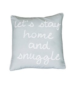 Let's Stay Home & Snuggle Decorative Pillow