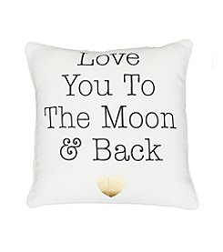 Luna Love You To Moon & Back Decorative Pillow