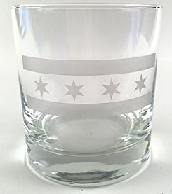 Transit Tees Chicago Flag Glass