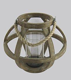 Ruff Hewn Large Wooden Lantern