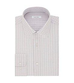 Calvin Klein Men's Grid Regular Fit Dress Shirt