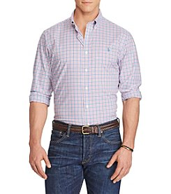 Polo Ralph Lauren® Men's Big & Tall Plaid Poplin Shirt
