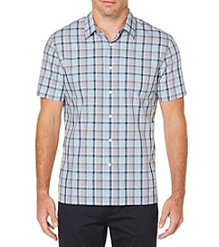 Perry Ellis® Men's Short Sleeve Highlighted Plaid Shirt