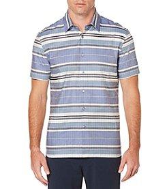 Perry Ellis® Men's Short Sleeve Ladder Strip Woven Shirt