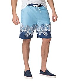 Chaps® Men's Big & Tall Tropical-Print Swim Trunk