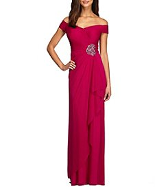 Alex Evenings® Long Off The Shoulder Sweetheart Dress