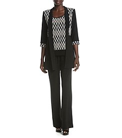 R&M Richards® Petites' Print Jacket Tank Pant Set