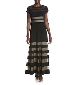 R&M Richards® Petites' Illusion Stripe Dress