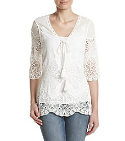 Penelope Rose™ Lace Up Top