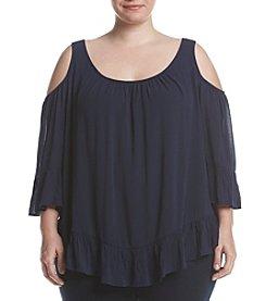 Oneworld® Plus Size Cold Shoulder Blouse