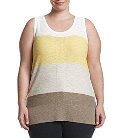 Jones New York ® Plus Size Colorblocked Shell