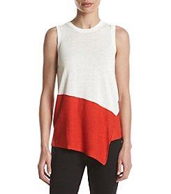 Anne Klein® Asymmetrical Colorblock Top