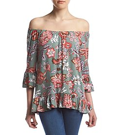 no comment™ Off Shoulder Peplum Sleeve