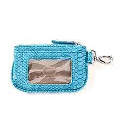 Relativity® Matte Snakeskin Embossed ID Holder