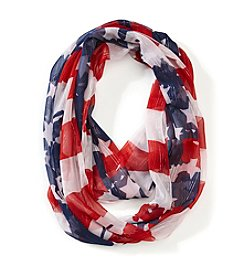 Collection 18 Distressed Flag Loop Scarf