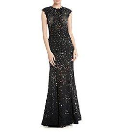 Betsy & Adam® Lace Mermaid Dress