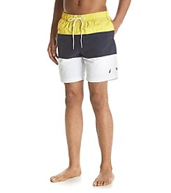 Nautica® Men's Quick Dry Color Block Swim Trunks