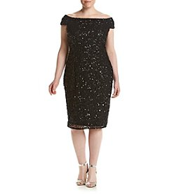 Adrianna Papell® Plus Size Sequin Off-Shoulder Dress