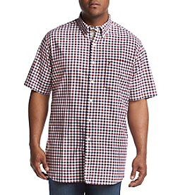 Nautica® Men's Big & Tall Short Sleeve Checker Button Down