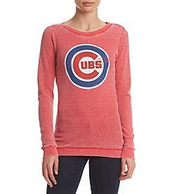 G III Queen Chicago Cubs Women's Burnout Thermal Long Sleeve Shirt