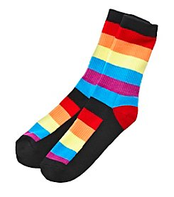 High Point Colorblocked Stripe Inner Happiness Socks