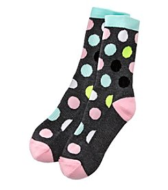 High Point Dot Print Inner Happiness Socks
