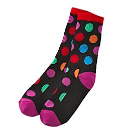 High Point Large Dot Inner Happiness Socks
