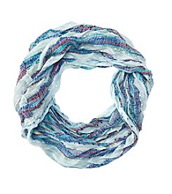 Collection 18 Chevron Pleated Loop Scarf