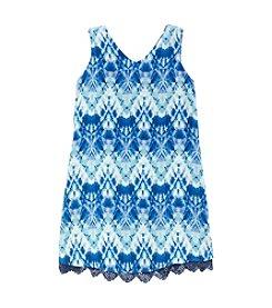 A. Byer Girls' Double V-Neck Dress