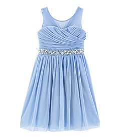 Speechless® Girls' 7-16 Illusion Neck Dress with Belt