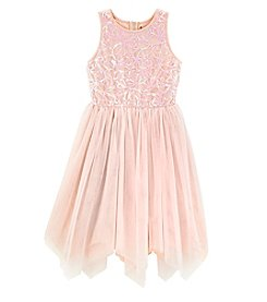 Speechless® Girls' 7-16 Glitter Embellished Sharkbite Dress